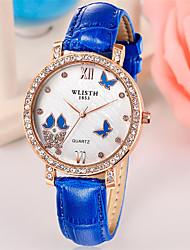 cheap -Women's Fashion Watch Quartz Casual Analog Red Blue / Leather