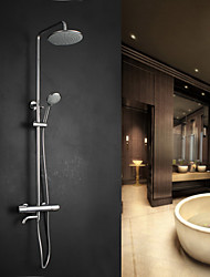 cheap -Contemporary Art Deco/Retro Modern Shower Only Rain Shower Handshower Included Pullout Spray Brass Valve Two Holes Single Handle Two Holes Bath Shower Mixer Taps