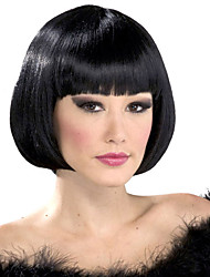 cheap -Synthetic Wig Straight Straight Bob With Bangs Wig Short Natural Black Synthetic Hair Women's Black