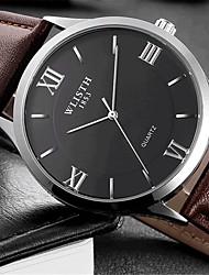 cheap -Men's Wrist Watch Quartz Leather Brown Hot Sale Analog Casual Fashion - White Black