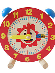 cheap -Wooden Clock Toy Time Teaching Clock Educational Toy Clock Education Boys' Girls' Toy Gift