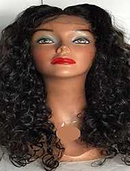 cheap -Human Hair Glueless Lace Front / Lace Front Wig Deep Wave Wig 130% Natural Hairline / African American Wig / 100% Hand Tied Women's Short / Medium Length / Long Human Hair Lace Wig