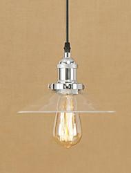 cheap -1-Light 22 cm Mini Style / Designers Pendant Light Metal Glass Electroplated Vintage / Retro 110-120V / 220-240V