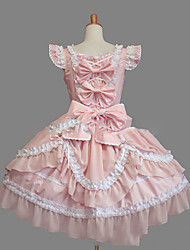 cheap -Princess Sweet Lolita Dress Women's Girls' Lace Cotton Japanese Cosplay Costumes Plus Size Customized Pink Ball Gown Vintage Cap Sleeve Sleeveless Short / Mini