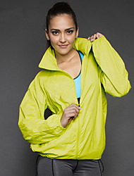 cheap -Men's Women's Hiking Windbreaker Outdoor Waterproof Lightweight Windproof Breathable Top Polyester Full Length Visible Zipper Running Camping / Hiking Hiking Black / White / Sky Blue / Orange / Yellow