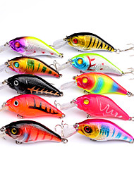 cheap -10 pcs Crank Fishing Lures Hard Bait Crank Sinking Bass Trout Pike Sea Fishing Bait Casting Spinning Hard Plastic / Jigging Fishing / Freshwater Fishing / Bass Fishing / Lure Fishing