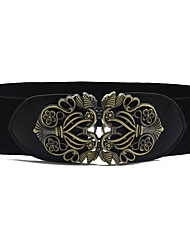 cheap -Women's Party / Work / Active Alloy Skinny Belt - Solid Colored Shiny Metallic / Fashion / PU / Basic