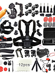 cheap -Accessory Kit For Gopro Outdoor Water Resistant 50 pcs For Action Camera Gopro 6 All Gopro Gopro 5 Xiaomi Camera Gopro 4 Ski / Snowboard Universal Camping / Hiking / Caving / Sports DV / SJCAM