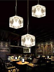 cheap -3-Light 5 cm Crystal / LED / Designers Pendant Light Metal Chrome Modern Contemporary 110-120V / 220-240V