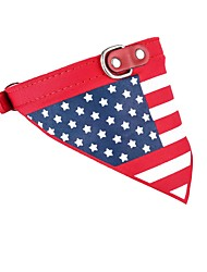 cheap -Cat Dog Bandanas & Hats Tie / Bow Tie Dog Clothes Red Costume PU Leather Fabric Flag Party Cowboy Casual / Daily XS S M L