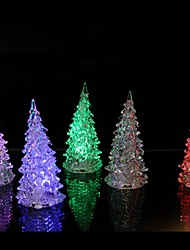 cheap -1pc Colorful Luminous Fairy Color LED Night Light Lamp Christmas Tree Ornament Acrylic Xmas Creative Table Home Decoration