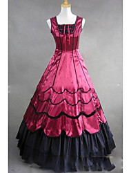 cheap -Gothic Victorian Medieval 18th Century Dress Party Costume Masquerade Women's Satin Costume Red Vintage Cosplay Party Prom Short Sleeve Floor Length Plus Size Customized