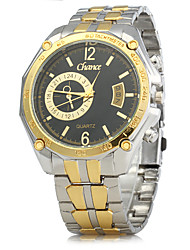 cheap -Men's Dress Watch Quartz Gold Calendar / date / day Analog Classic Vintage - Black