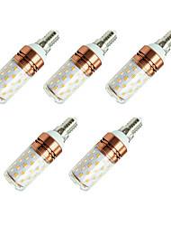cheap -5pcs 8 W LED Corn Lights 800 lm E14 T 60 LED Beads SMD 2835 Warm White White / 5 pcs