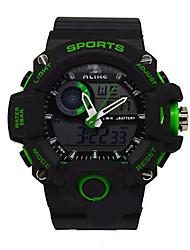 Недорогие -Муж. Спортивные часы электронные часы Кварцевый Pезина Черный Аналого-цифровые Белый Красный Зеленый