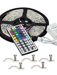 Недорогие -Наборы света 5 м 300 светодиодов Пульт дистанционного управления 10 мм RGB / RC / Cuttable / затемняемый 12 В / IP65