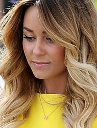 cheap -Remy Human Hair Glueless Lace Front Lace Front Wig Beyonce style Brazilian Hair Body Wave Loose Wave Ombre Wig 130% Density with Baby Hair Ombre Hair Natural Hairline African American Wig 100% Hand