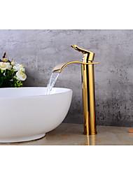 cheap -Contemporary Centerset Ceramic Valve Single Handle One Hole Bathroom Sink Faucet Bath Taps