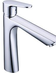 cheap -Contemporary Centerset Widespread Ceramic Valve Single Handle One Hole Chrome, Bathroom Sink Faucet