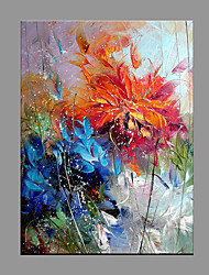 cheap -Hand-Painted Abstract Vertical Panoramic,Modern/Contemporary One Panel Canvas Oil Painting For Home Decoration