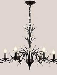 cheap -LightMyself™ 6-Light 86 cm Crystal / LED Chandelier Metal Painted Finishes Modern Contemporary 110-120V / 220-240V