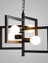 abordables -4 lumières Géométrique Lampe suspendue Lumière d'ambiance Finitions Peintes Métal Mat, Éclairage, Conception spéciale 110-120V / 220-240V / E26 / E27