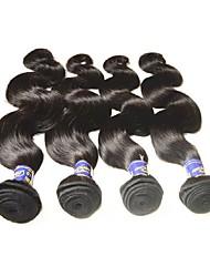 cheap -Remy Human Hair Remy Weaves Body Wave Peruvian Hair 200 g 1 Year