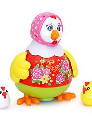Недорогие -Аксессуары для кукольного домика Обучающая игрушка Цыпленок Танцы Электрический Пластик Назначение Дети