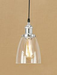 cheap -1-Light 14.5 cm Anti-Glare / Mini Style / Eye Protection Pendant Light Metal Glass Electroplated Retro / Country 110-120V / 220-240V