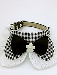 cheap -Dogs Cats Collar Tie / Bow Tie Adjustable Size Bowknot Plaid / Check Bowknot Fabric Black Pink