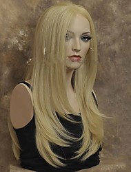cheap -Synthetic Lace Front Wig Straight Straight Lace Front Wig Long Blonde Synthetic Hair Women's Black StrongBeauty