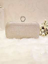 cheap -Women's Faux Leather Evening Bag Solid Colored Gold / Black / Silver