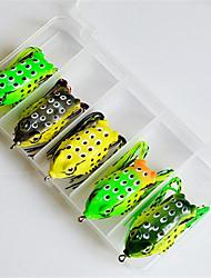 cheap -5 pcs Fishing Hooks Fishing Lures Soft Bait Frog Hollow Floating Bass Trout Pike Bait Casting Plastics