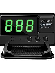 Недорогие -Ziqiao универсальный автомобиль HUD GPS спидометр Head Up Display лобовое стекло цифровой автомобиль скорость проектор сигнализация превышения скорости для всего автомобиля