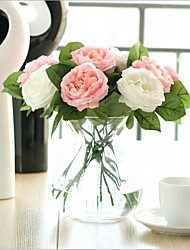 cheap -Artificial Flowers 5 Branch Modern Style Roses Tabletop Flower