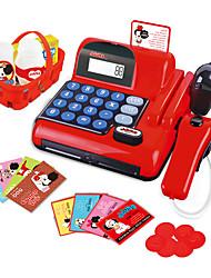 Недорогие -Игрушечные машинки Бакалея Торговый Игры с деньгами моделирование Пластик Детские Игрушки Подарок