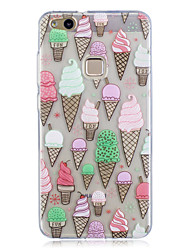 cheap -Case For Huawei P10 Lite / P10 / Huawei Translucent / Pattern Back Cover Food Soft TPU