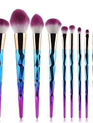 Недорогие -профессиональный Кисти для макияжа Наборы кистей 10 шт. Синтетические волосы / Кисть из синтетических волокон Кисти для макияжа за