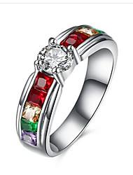 Недорогие -Жен. Кольцо Цирконий Синтетический алмаз титан Нержавеющая сталь Круглый Мода Поздравления Подарок Бижутерия