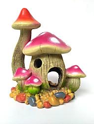 cheap -Fish Tank Aquarium Decoration Ornament Mushroom Castle Non-toxic & Tasteless Resin 14*10*16 cm