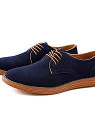 cheap -Men's Formal Shoes Leather / Suede Spring / Fall Casual Oxfords Walking Shoes Black / Brown / Camel / Wedding / Party & Evening / Split Joint / Party & Evening / Suede Shoes
