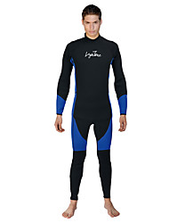 cheap -LAYATONE Men's Full Wetsuit 3mm Diving Suit Long Sleeve Diving Watersports Plain Spring &  Fall / Stretchy