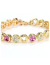 cheap -Women's Chain Bracelet Heart Vintage Natural Fashion Handmade Crystal Bracelet Jewelry Rainbow / Light Purple / Pink For Wedding Party Anniversary Birthday Homecoming