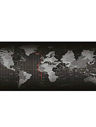 cheap -Gaming Mouse Pad - Portable Large Desk Pad - Non-slip Rubber Base World Map Mouse Pad(30x80x0.2cm)