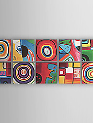 cheap -Oil Painting Hand Painted - Abstract Abstract Modern Contemporary Stretched Canvas