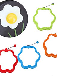 cheap -Flower Shaped Silicone Scramble Egg Mold Ring Breakfast Omelette Mould