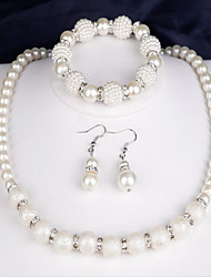 cheap -Women's Bridal Jewelry Sets Ladies Elegant Fashion everyday Pearl Earrings Jewelry White For Wedding Party Anniversary Congratulations Gift Daily