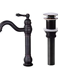 cheap -Faucet Set - Standard Oil-rubbed Bronze Centerset Single Handle One HoleBath Taps