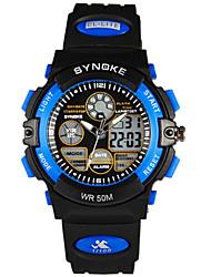 Недорогие -Муж. Модные часы электронные часы Цифровой Pезина Черный Аналого-цифровые Желтый Красный Синий