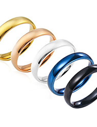 cheap -Men's Ring Silver Royal Blue Champagne Stainless Steel Round Basic Party Birthday Jewelry